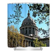 Oklahoma City Capitol In The Spring Shower Curtain