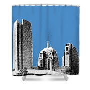 Oklahoma City Skyline - Slate Shower Curtain