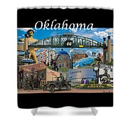 Oklahoma Collage With Words Shower Curtain