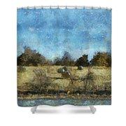 Oklahoma Hay Rolls Photo Art 02 Shower Curtain