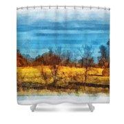 Oklahoma Hay Rolls Photo Art 03 Shower Curtain