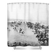 Oklahoma Land Rush Shower Curtain