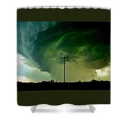 Oklahoma Mesocyclone Shower Curtain