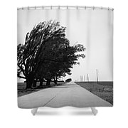 Oklahoma Route 66 2012 Bw Shower Curtain