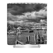 Olcott On A Winter Day Shower Curtain