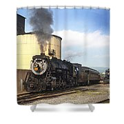Old 3254 Heading Down The Line Shower Curtain