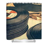 Old 45s Shower Curtain