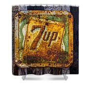 Old 7 Up Sign Shower Curtain