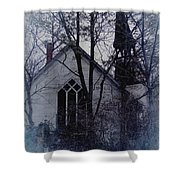 Old Abandoned Church Shower Curtain