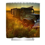 Old Abandoned Farm Truck Shower Curtain