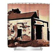 Old Abandoned House In Cape Breton Shower Curtain by John Malone