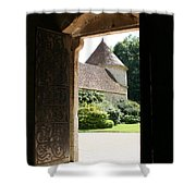 Old Abbey Church Door - Abbey Fontenay Shower Curtain