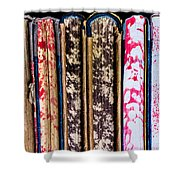 Old Account Books Shower Curtain
