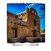 Old Adobe Building Santa Fe New Mexico Shower Curtain