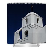 Old Adobe Mission Scottsdale Shower Curtain