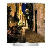 Old Alley At Night Shower Curtain