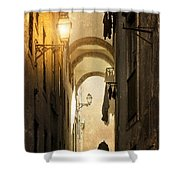 Old Alley Shower Curtain by Carlos Caetano
