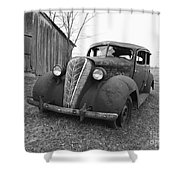 Old And Forgotten Black And White Shower Curtain