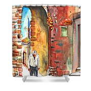 Old And Lonely In Italy 04 Shower Curtain