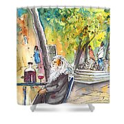 Old And Lonely In Italy 05 Shower Curtain