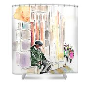 Old And Lonely In Salamanca Shower Curtain