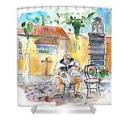 Old And Lonely In Tenerife 01 Shower Curtain