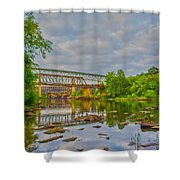 Old And New Bridges Shower Curtain