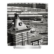 Old And New Tokyo Station Shower Curtain