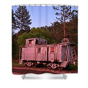 Old And Weathered Caboose Shower Curtain