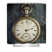 Old Antique Pocket Watch Shower Curtain