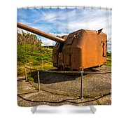 Old Artillery Gun - Ft. Stevens - Oregon Shower Curtain