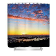 Old A's Panorama Shower Curtain