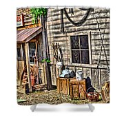 Old Bait Shop And Antiques Shower Curtain