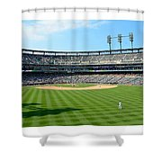 Old Ball Park Shower Curtain