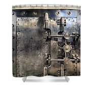 Old Bank Vault In Historic Building Shower Curtain