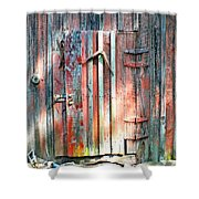 Old Barn Door 2 Shower Curtain