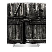 Old Barn Door - Bw Shower Curtain