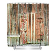 Old Barn Door Shower Curtain
