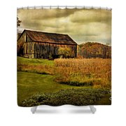 Old Barn In October Shower Curtain