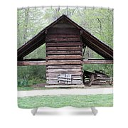 Old Barn In The Woods Shower Curtain