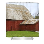 Old Barn Shower Curtain by Kathy DesJardins
