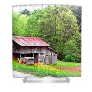 Old Barn Near Willamson Creek Shower Curtain