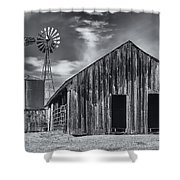 Old Barn No Wind Shower Curtain