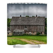 Old Barn On A Stormy Day Shower Curtain