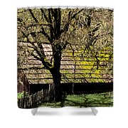 Old Barn Shower Curtain by Ron Sanford
