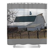 Old Barn With New Roof Shower Curtain