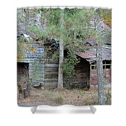 Old Barn With Side Shed Shower Curtain