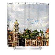 Old Basilica Of Guadalupe Shower Curtain