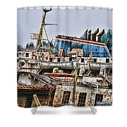 Old B.c. Ferry Shower Curtain