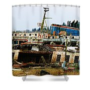 Old B.c. Rusted Ferry Shower Curtain